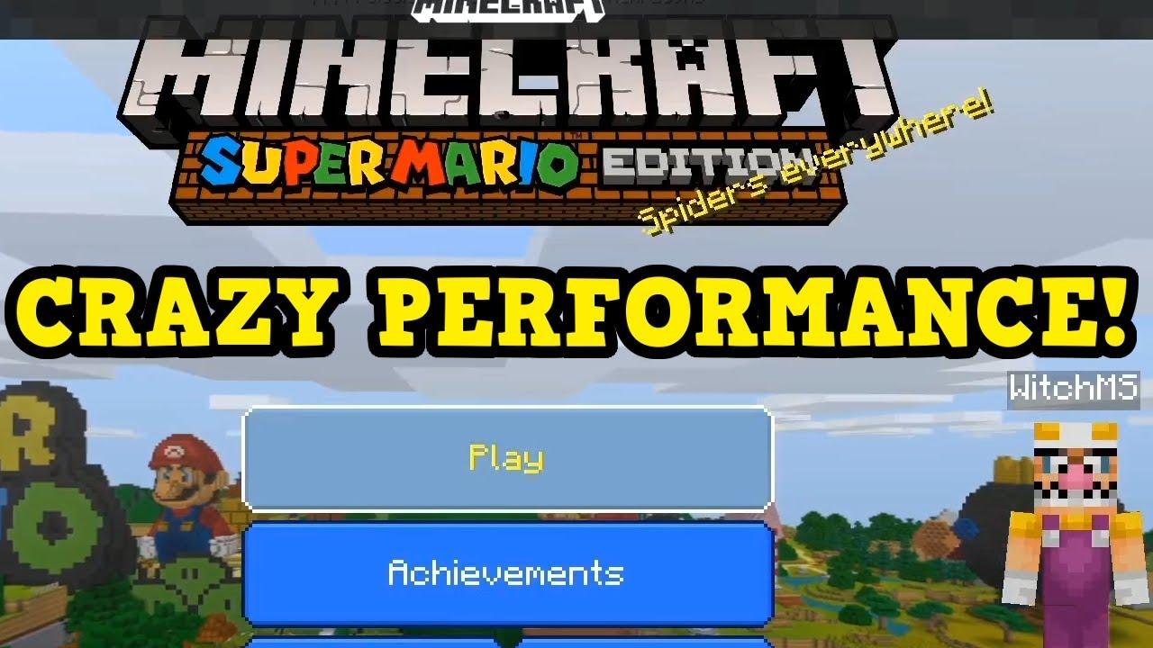 Minecraft Switch Bedrock Gameplay Insane Performance Youtube