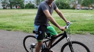 Электровелосипед 350 ват(Тест драйв электро-велосипед 350-ват аккумулятор 36-вольт 10а.ч Средняя-скорость 25-30км в час, запас хода без..., 2015-06-16T22:38:07.000Z)