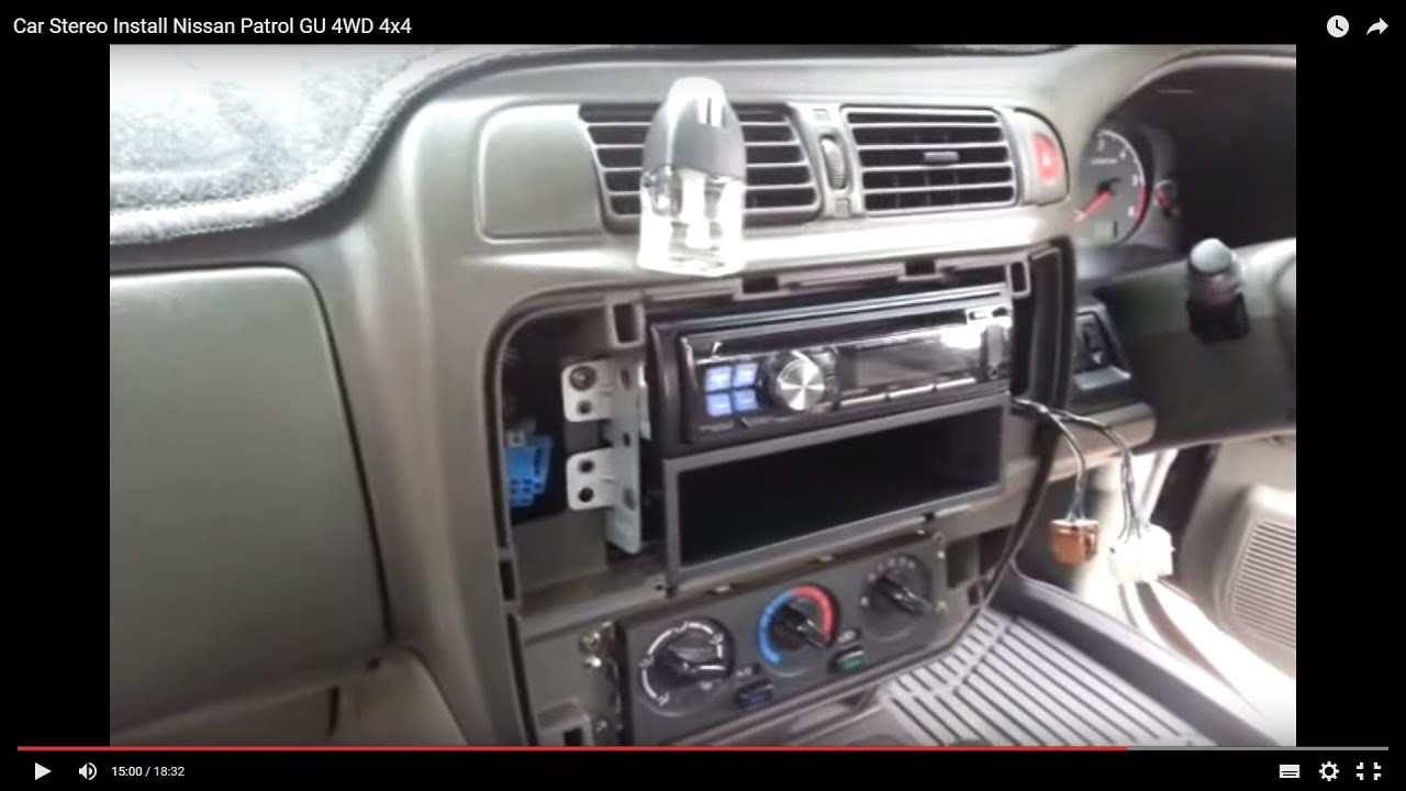 Nissan Patrol Radio Wiring Harness : Car stereo install nissan patrol gu wd Автомобильн