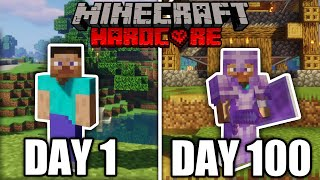 I Survived 100 Days in HARDCORE Minecraft... And Here's What Happened