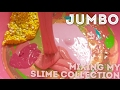 JUMBO 4KG MIXING MY SLIME COLLECTION !!