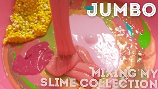 JUMBO 4KG MIXING MY SLIME COLLECTION !!