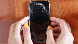 ASMR ITA What's on my (DESTROYED!) phone?
