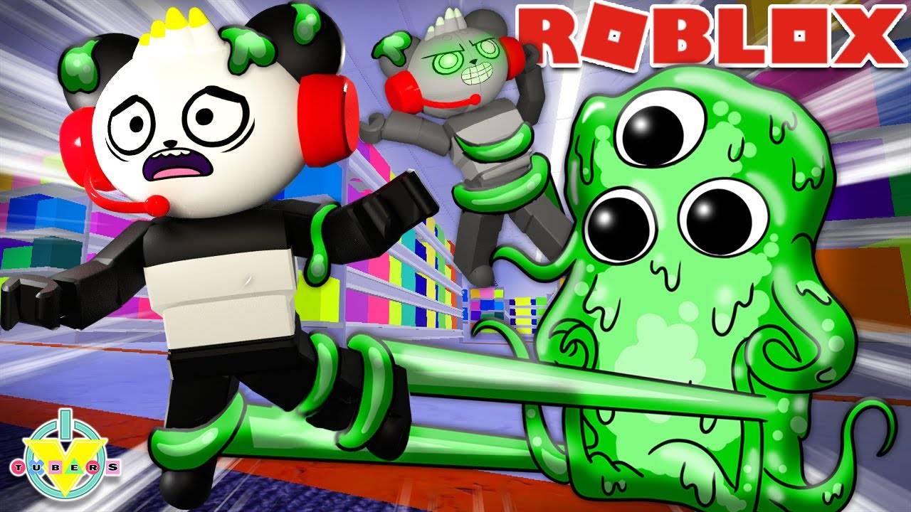 We Got SLIMED by Slimey! Let's Play Roblox Silmey with Combo Panda & Robo Combo