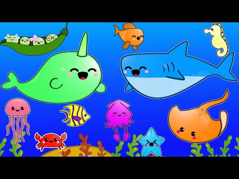 Baby Tv - Under the Sea Colourful Background -Fun Baby Video For Visual Development