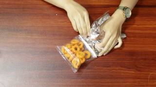 How To Use Aluminium Foil To Heat and Seal Your Plastic Bag