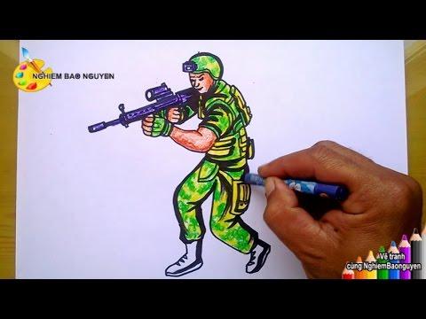 Vẽ nhân vật Đột kích/How to draw Gunner from CrossFire