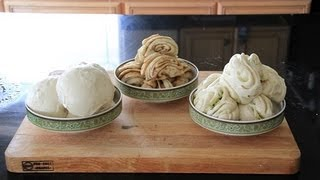 用 KitchenAid Mixer 作馒头甜花卷和葱花卷