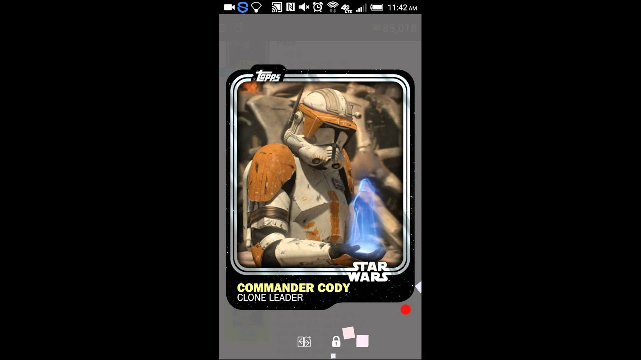 Star Wars Card Trader Opening Packs