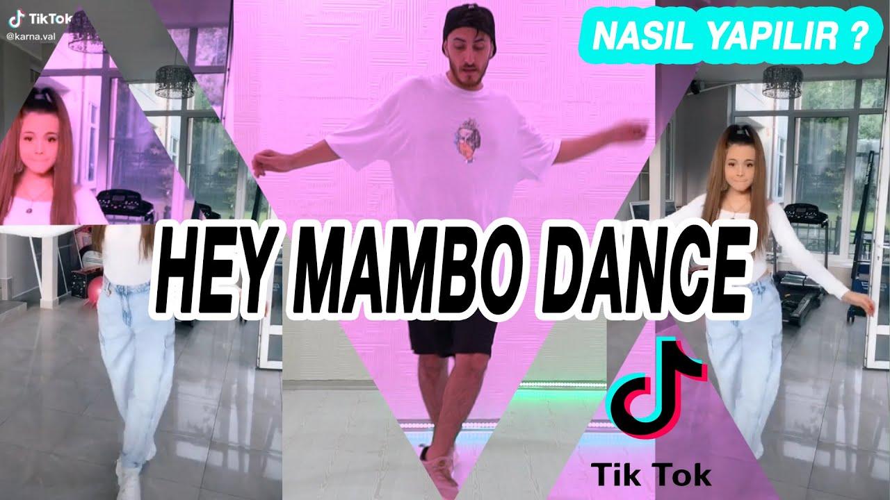 HEY MAMBO TİK TOK DANCE NASIL YAPILIR ?  Mambo Remix Dance Tutorial  Tiktok 2020 Dansları