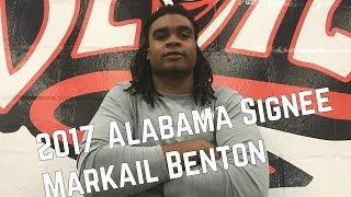 Markail Benton eager to get to Alabama