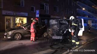 23.01.2019 - Ild i bil efter ulykke - Charlottenlund