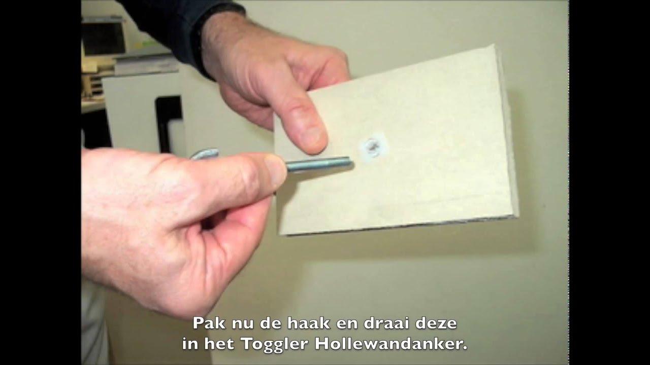 Verbazingwekkend Pannenrek aan gipsplaat met TOGGLER Pluggen & Ankers - YouTube II-18