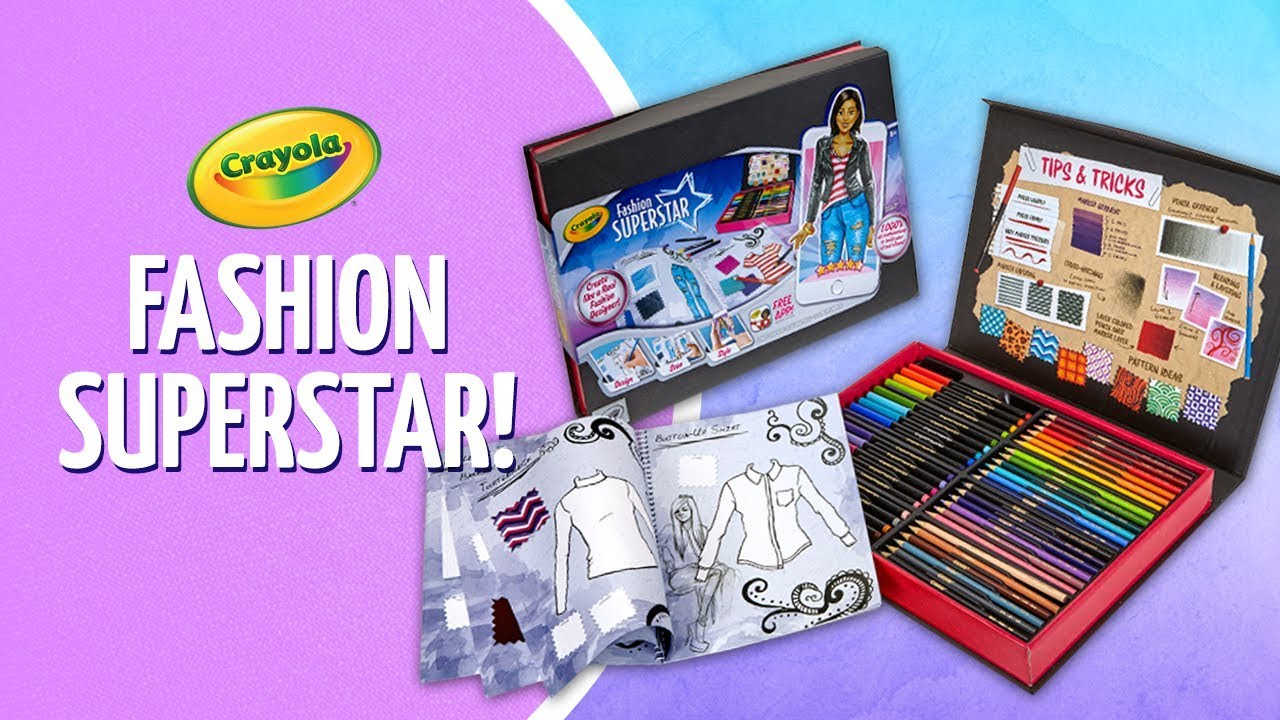 Crayola S New Fashion Superstar Design Kit A Toy Insider Play By Play Youtube