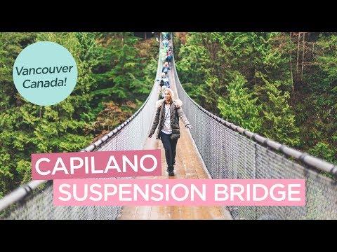 Walking The Capilano Suspension Bridge And Cliffwalk In Vancouver Canada