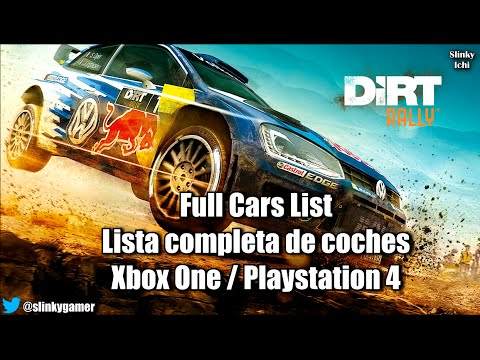 dirt rally full cars list lista completa de coches xbox one playstation 4 youtube. Black Bedroom Furniture Sets. Home Design Ideas