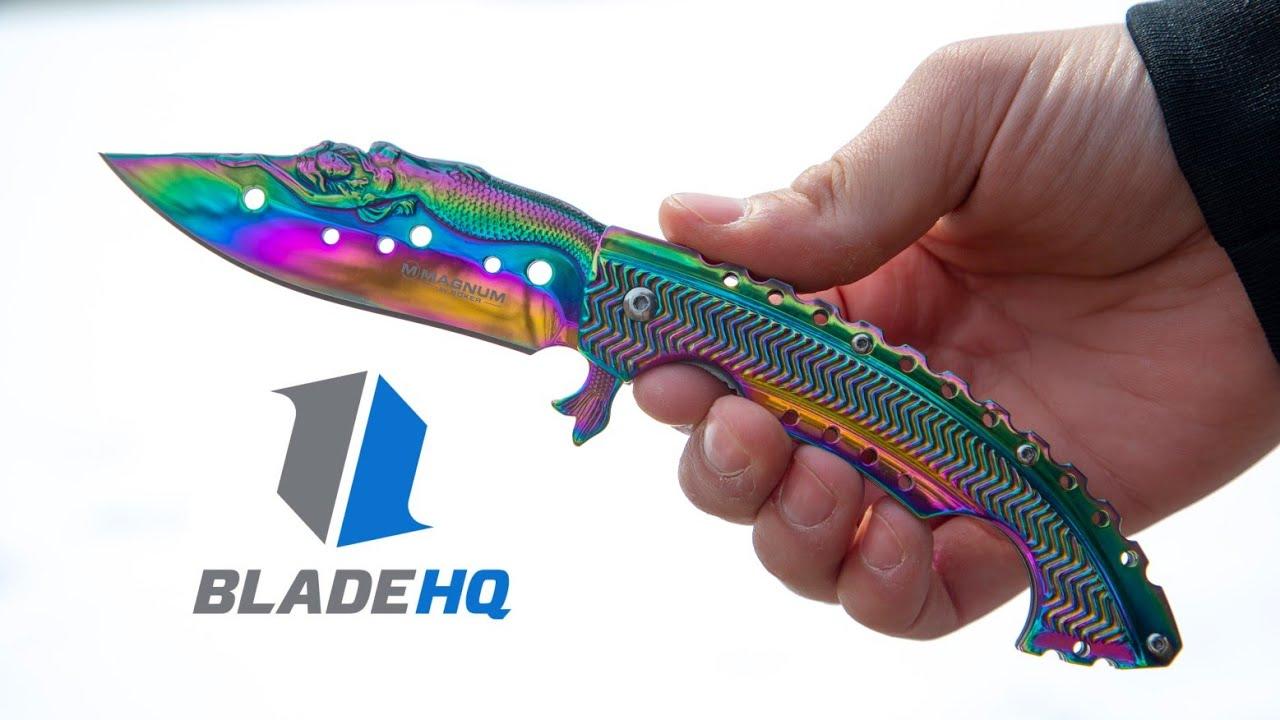 Boker Magnum Rainbow Mermaid   GRAIL KNIFE!