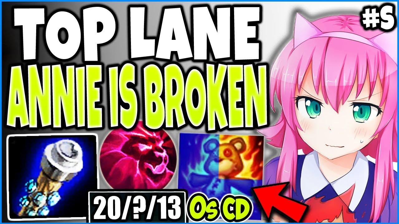 TOP LANE ANNIE IS BROKEN! R GOT LITERALLY 0 SEC CD 🔥 LOL BEST ANNIE RUNES/ITEMS BUILD SEASON 9 GUIDE