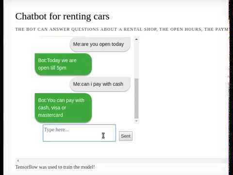 Chatbot for renting car train with Tensorflow