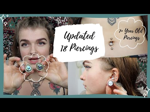 Updated piercings, FAQs  & Mini Plugs Haul ft Stretch It Body Jewellery | NarylfielNymph