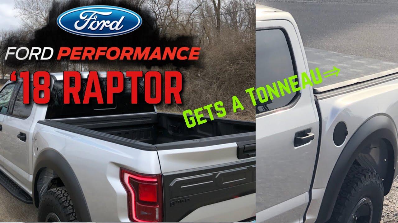 2018 Raptor Gets A Tonneau Cover Youtube