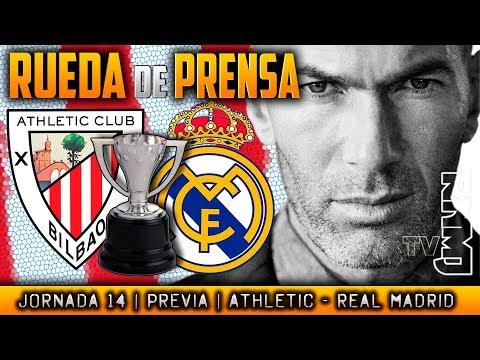 Athletic - Real Madrid Rueda de prensa de Zidane (01/12/2017) | PREVIA L...