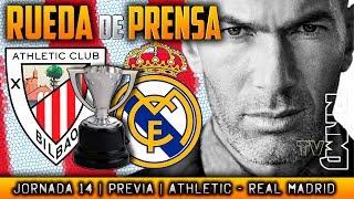 Athletic - Real Madrid Rueda de prensa de Zidane (01/12/2017) | PREVIA LIGA JORNADA 14