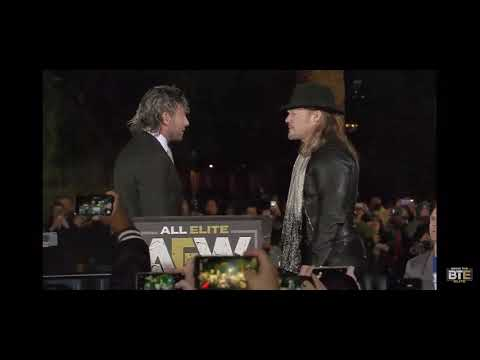 Chris Jericho attack's Kenny Omega at AEW Press Conference