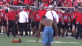 No. 5 West Virginia vs. Texas Tech streaker - Oct. 13, 2012
