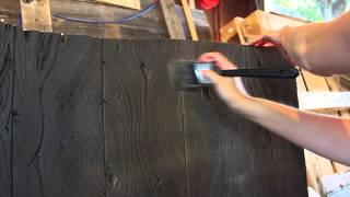 Wood Grain Carved Foam Painting Tutorial - Haunt Update!
