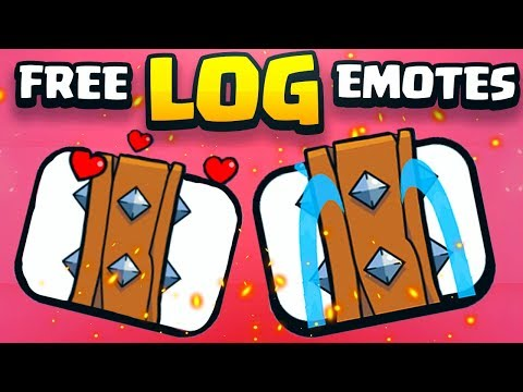 2 FREE NEW LOG EMOTES in CLASH ROYALE!