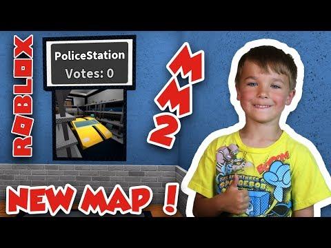 PLAYING NEW MAP POLICE STATION | ROBLOX MURDER MYSTERY 2 | TROLLING MY DAD