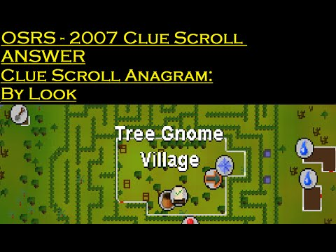 OSRS - ANAGRAM CLUE SCROLL - BY LOOK - HARD CLUE SCROLL