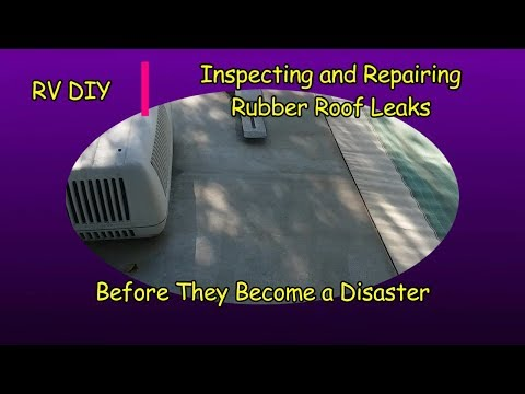 RV DIY Inspection and Repair Rubber Roof