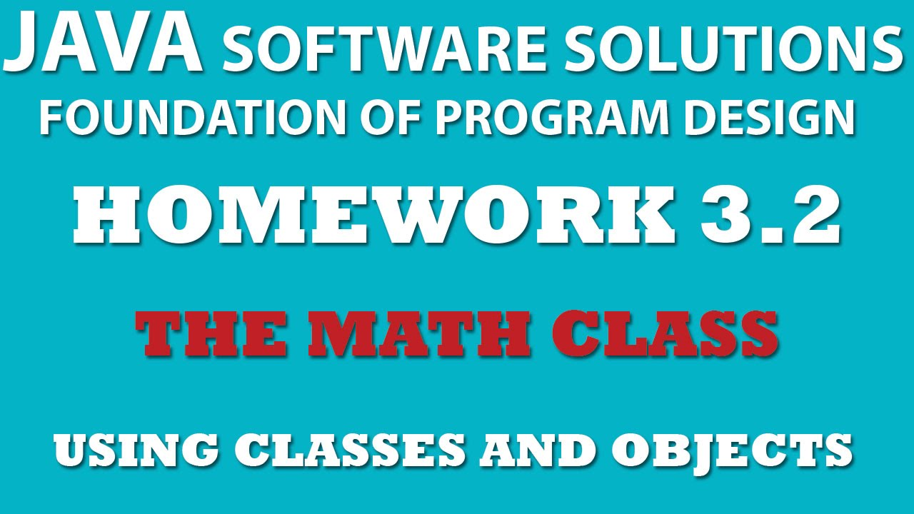 3-2 Java: Using Math Class - Classes and Objects - YouTube