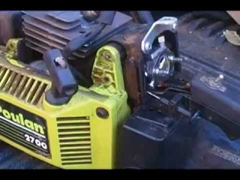 How to ... Poulan Chainsaw - replace fuel lines - YouTube