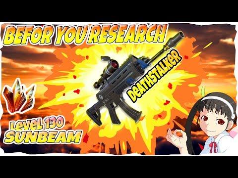 BEFORE YOU RESEARCH!! I DeathStalker I Fortnite Save The World