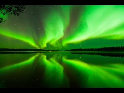 Aurora Borealis in Rovaniemi, the Official Hometown of Santa Claus in Lapland, Finland