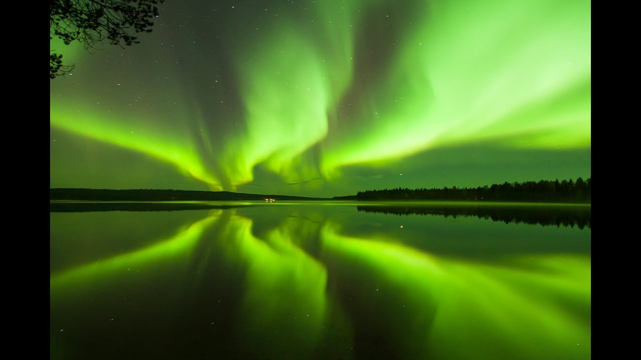 Aurora Borealis In Rovaniemi The Official Hometown Of Santa Claus In Lapland Finland