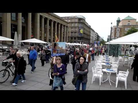 Demozug zum Schlossplatz - 73. Montagsdemo gegen Stuttgart 21 - 02.05.2011