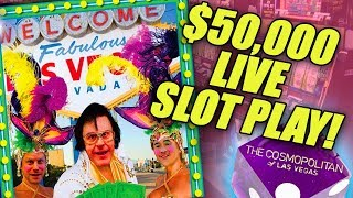 RECORD BREAKING! Largest Ever $50000 Live Slot Play @ The Cosmo In Las Vegas | The Big Jackpot