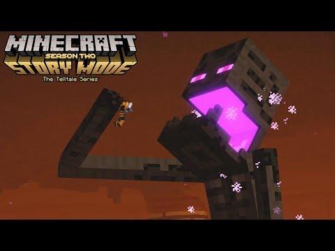Minecraft Story Mode Season 2 Episode 4 Giant Enderman Boss Fight