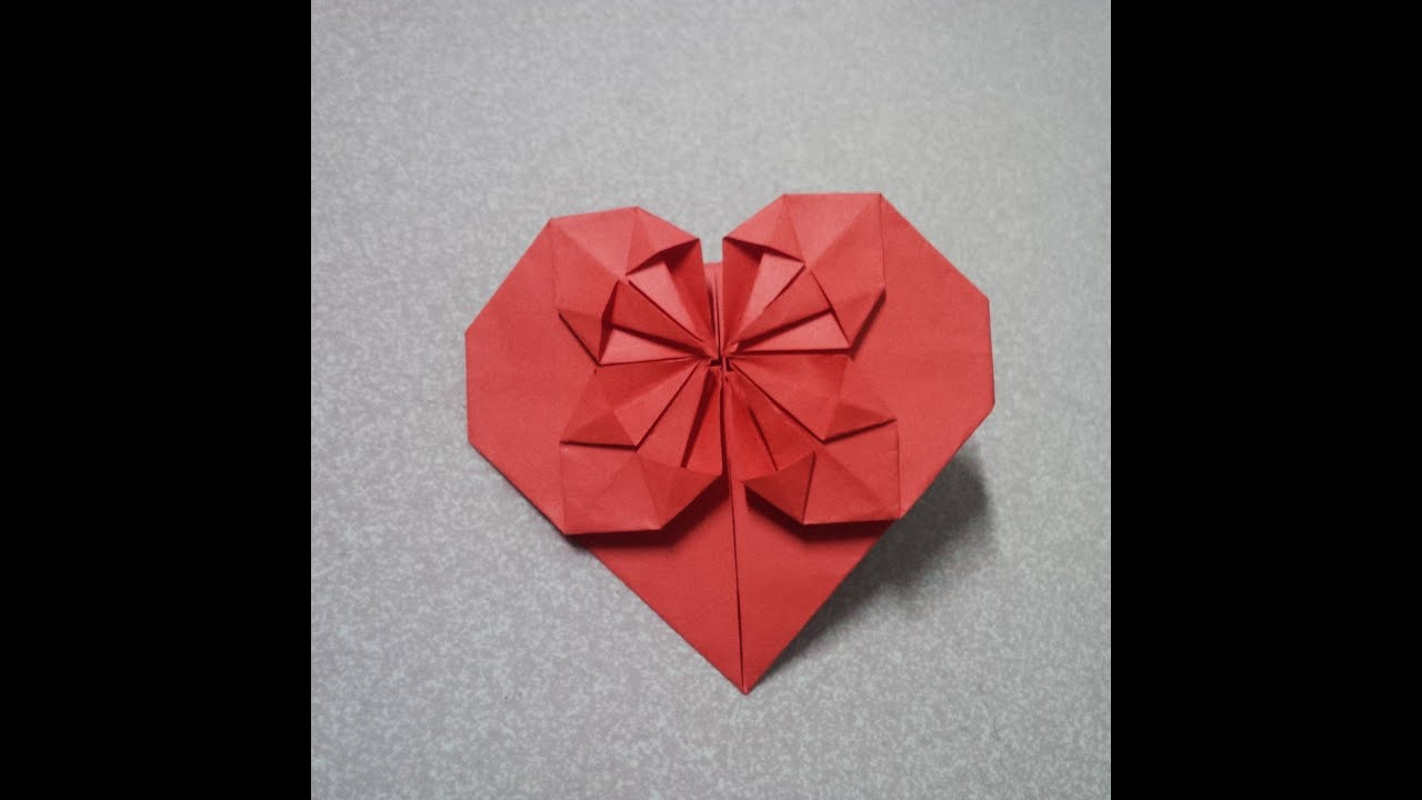 paper heart origami heart origami tutorial youtube