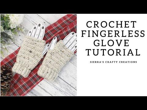Quick & Easy Crochet Fingerless Glove Tutorial- How To Crochet Fingerless Gloves