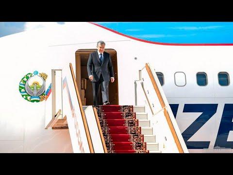 Президент Республики Узбекистан Шавкат Мирзиёев прибыл в Российскую Федерацию с рабочим визитом
