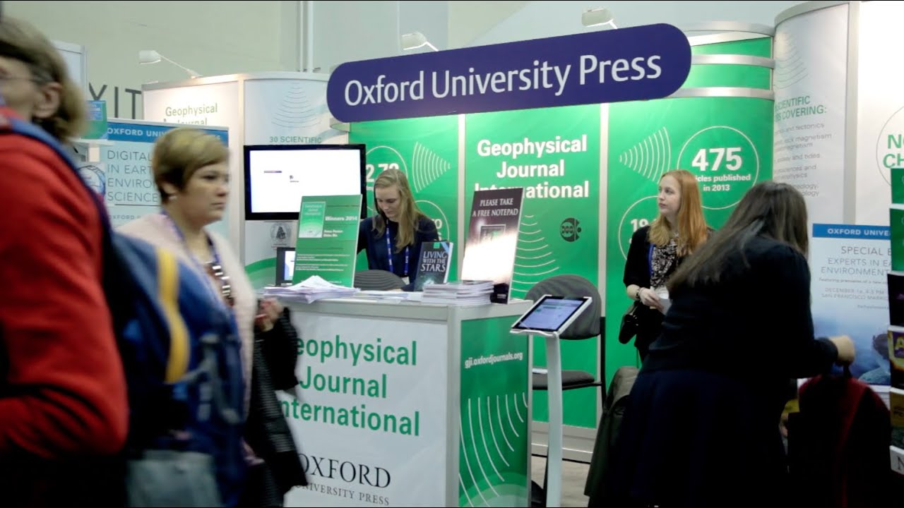 In The Oxford Booth: American Geophysical Union