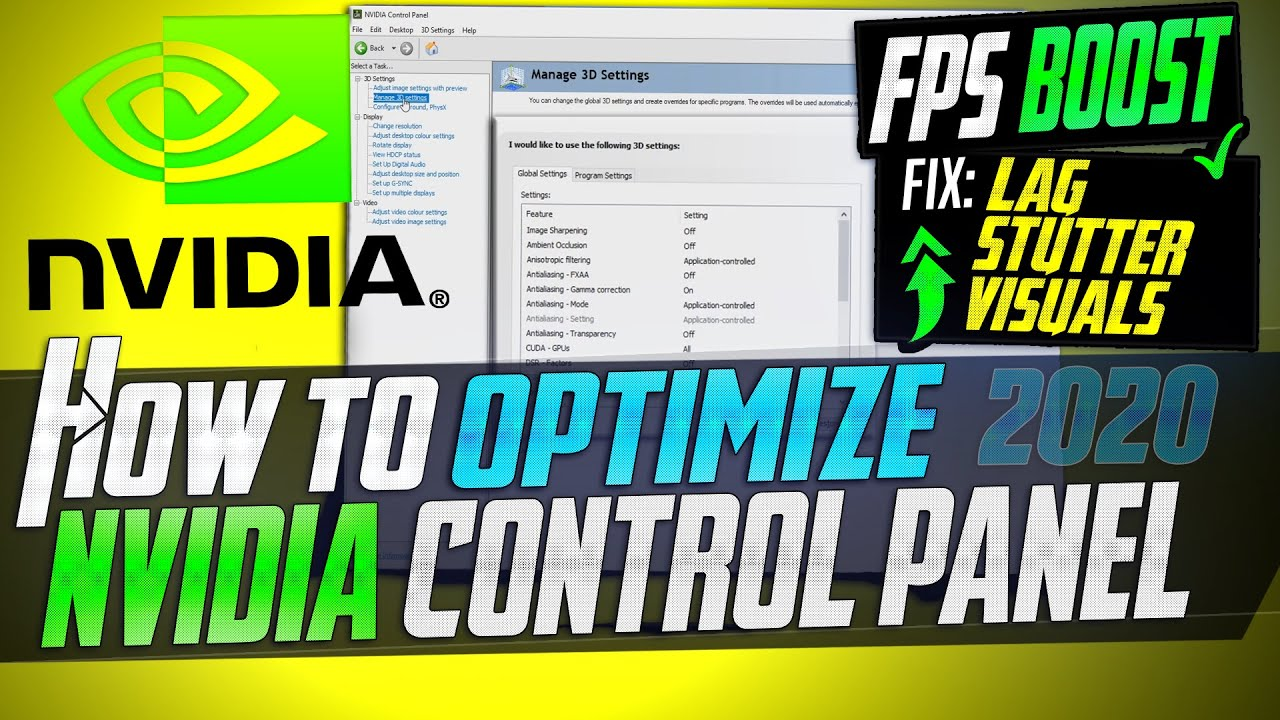 ? How to Optimize Nvidia Control Panel For GAMING & Performance The Ultimate GUIDE 2020 Update