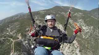 Mel Potts Paragliding at Crestline San Bernardino California