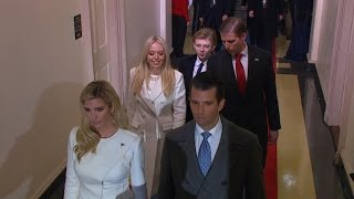 Trump children arrive at swearing-in ceremony