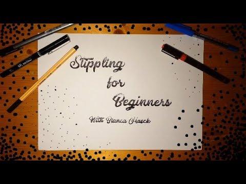 Stippling For Beginners: Skillshare Lesson 1 Demo (FULL CLASS ON SKILLSHARE.COM, LINK BELOW)